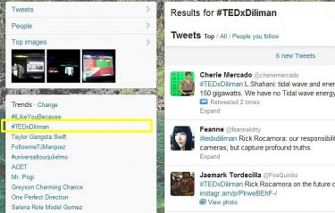 #TEDxDiliman trended on Twitter. Photo by Joseph Ubalde, used with permission.